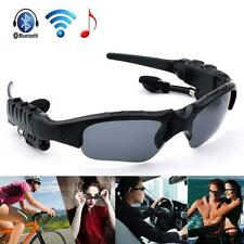Wireless Bluetooth SunGlasses Micphone Headset Headphones Handfree For iPhone KJ