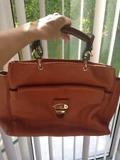 MULBERRY POLLY PUSH LOCK LEATHER TOTE