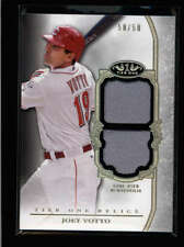 JOEY VOTTO 2013 TOPPS TIER ONE DUAL GAME USED WORN JERSEY #50/50 G3496