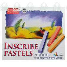 Inscribe Artists Soft Pastels 24 FULL SIZE Stick Box Set. Assorted Colours