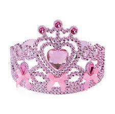 Girl's Cinderella Pink Princess Tiara With Bows Panto Prop Fancy Dress