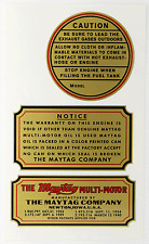MAYTAG vintage style Multi-Motor Gas Engine 1930's/40's stickers decals