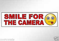 Smile for the camera funny car bumper sticker decal security traffic dash cams
