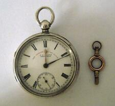 The Express English Lever Heavy Sterling Silver Gents Pocket Watch Chester 1898