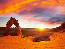 Impresión arte cartel Foto Paisaje arco de piedra puesta de sol del desierto Usa lfmp1232