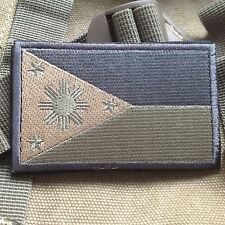 PHILIPPINE PHILIPPINESE FLAG MORALE TACTICAL MILITARY BADGE FOREST PATCH
