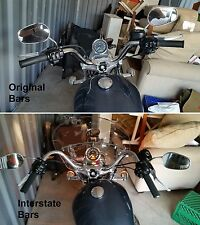 Sportster Handlebars & New Leather Grips! 1982-Up Interstate Bars! No New Cables