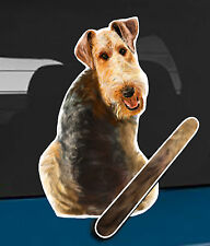 Airedale Dog and Animal rear window wiper sticker - 10 inches tall