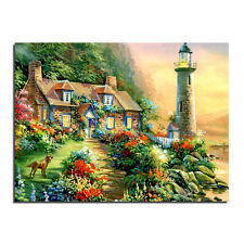 Lighthouse And Cottage Mosaic Diamond painting Kit 40cm x30 cm like cross stitch