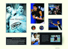 New Novak Djokovic Signed Limited Edition Memorabilia Framed