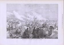 1873 KHIVA EXPEDITION RUSSIAN TROOPS ATTACKING A CARAVAN OF TURKOMANS