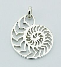 Silver pendant hand crafted 925 sterling silver modern sea shell 32mm height new