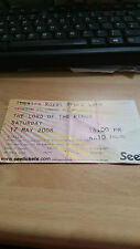 The Lord of the rings Theatre used ticket