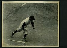 Phil Rizzuto running out batters box 1952 Wire Photo from Rizzuto estate Yankees