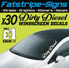 DIRTY DIESEL WINDSCREEN DECALS x30 £1 EACH JOB LOT STICKERS GRAPHICS CAR VINYL