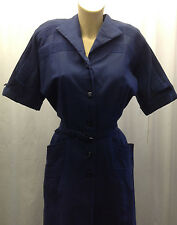 40s 'Toni Todd' Original Rich Sax Blue Dress with Stitched Detail.