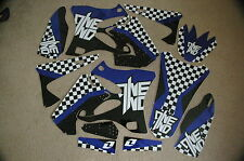 ONE INDUSTRIES CHECKERS TEAM  GRAPHICS YAMAHA YZ125 YZ250 2002-2014