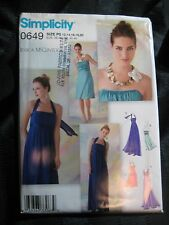 Simplicity Sewing Pattern 0649 Misses Special Occasion Dresses Prom Dress Uncut