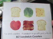 NIB BLT sandwich Coasters BACON bar Funny! New drink
