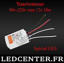 12V 18W LED Driver Power Supply Transformateur AC 90-220V vers Dc 12 volts