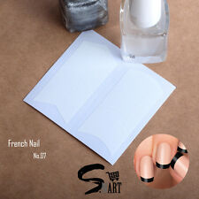 NAIL ART French Nail Manicure Tip Guides Strips Sticker V Shape U Shape A07