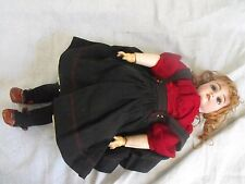 """Antique 19th C. German Heinrich Handwerk 18"""" Bisque Girl Doll"""