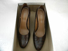 """NATURALIZER """"Rigby"""" Brown Croco Patent Leather Dress Shoes - Size 6M MINT!"""