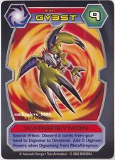 1 USED DIGIMON D-TECTOR CARD - DT-24 WARGREYMON (Average Condition)