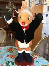 Rudolph The Red Nosed Reindeer Dancing Musical Animated Lighted Motionette New