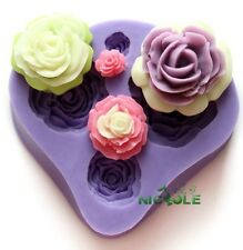 Flowers Silicone Mold Mould For Fimo Resin Polymer Clay Sugarcraft Fondant 009