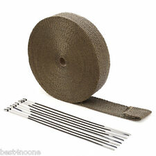 Auto Car Titanium Exhaust Header Tube Fiberglass Heat Wrap Tape 3000 X 5 X0.15CM