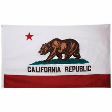 Nylon 210D State of California Flag 3x5 House Banner with Clips