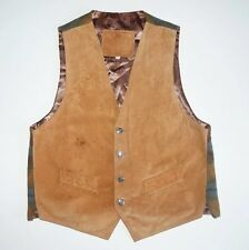MEN'S SUEDE LEATHER WAISTCOAT SIZE S