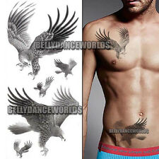 HAWK EAGLE VULTURE FAKE TATTOO ARM LEG BODY TEMPORARY MEN MAN TRANSFER STICKER
