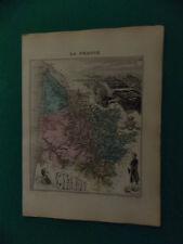 GIRONDE CARTE ATLAS MIGEON Edition 1885, Carte + fiche descriptive