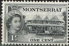 British Montserrat Island Gouvernment Building stamp 1956