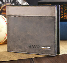 Men's Bifold Business Leather Wallet ID Credit Card Purse Clutch Pockets brown