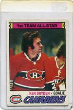 1977 - 1978 Topps Ken Dryden Montreal Canadiens #100 Hockey Card