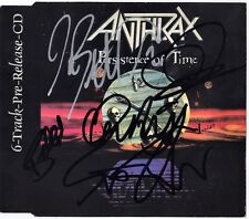 ANTHRAX Persistence of Time FULLY SIGNED Promo CD Scott Ian Belladonna AUTOGRAPH