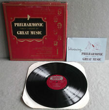PHILHARMONIC FAMILY LIBRARY OF GREAT MUSIC ALBUM 1 Lp Classical Strauss, Wagner