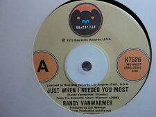 """Randy Vanwarmer """"Just When I Needed You Most"""" Oz 7"""""""