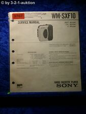Sony Service Manual WM SXF10 Cassette Corder (#3767)