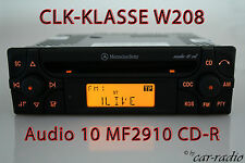 Mercedes Original Autoradio Audio 10 CD MF2910 CD-R CLK-Klasse W208 C208 A208
