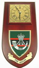 THE RIFLES REGIMENT CLASSIC STYLE HAND MADE TO ORDER  WALL CLOCK