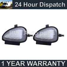 2X FOR VW PASSAT CC SANTANA EOS 18 WHITE LED UNDER MIRROR PUDDLE LIGHT LAMPS