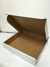 """100 - 12""""x11""""x2"""" Corrugated Mailers Packing Cardboard Shipping BOXES Fold White"""