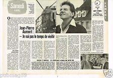 Coupure de presse Clipping 1981 (2 pages) Jean Pierre Aumont