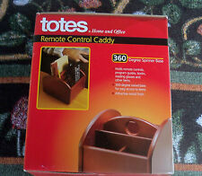 Totes Home & Office Remote Control Caddy New In Box Rosewood Finish