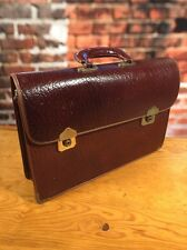Vintage Leather Attache Interparliamentary Union 1977 Spring Meetings