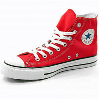 Converse All Star HI Canvas new Pumps Trainers Shoes RED  Size 3 4 5 6 7 UK